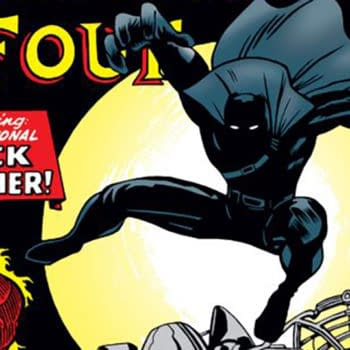 black panther, Fantastic Four #52 cover by Jack Kirby