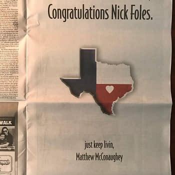 Alright Alright: Mathew McConaughey Congratulates Super Bowl MVP Nick Foles