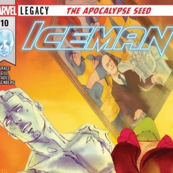 Iceman #10 cover by Kevin Wada