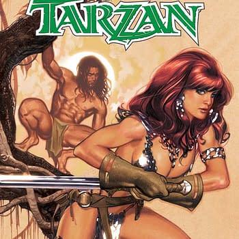Gail Simone and Walter Geovani Reunite for Red Sonja / Tarzan #1