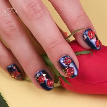 Geek Chic: Get Enchanted with this Beauty and the Beast 3D Nail Art