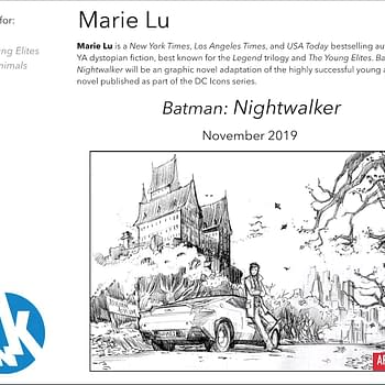 Marie Lu to Adapt Her Own Batman Novel Nightwalker as a Graphic Novel