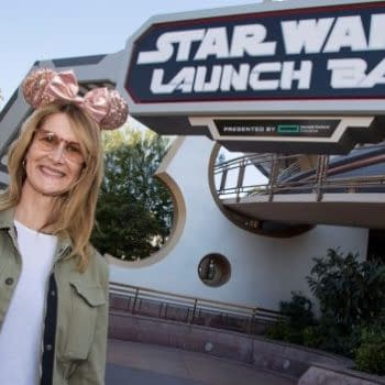 Laura Dern Visits Star Wars Launch Bay at Disneyland!
