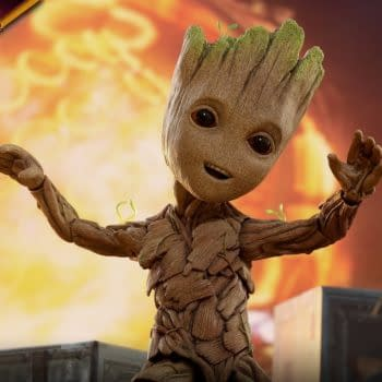 Baby Groot Life-Size Figure Dances his Way to Collections From Hot Toys