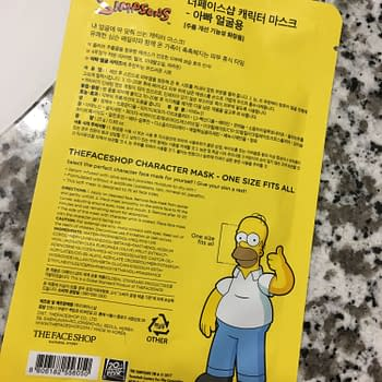 D'oh! This Homer Simpson Sheet Mask is What Nightmares Are Made Of