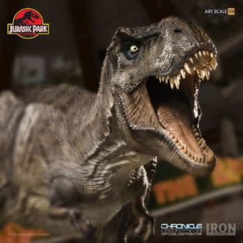 Iron Studios T-Rex Jurassic Park Statue 7