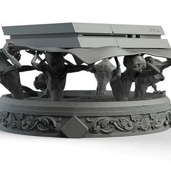 Russian Artist Creates the Freakiest Bloodborne PS4 Stand Youll Ever See