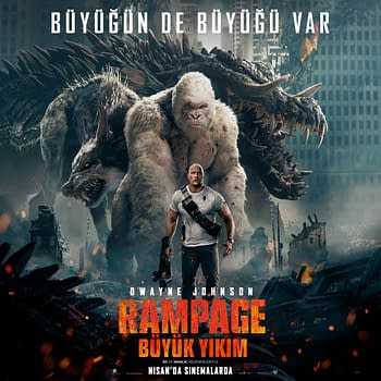 New International Posters for Rampage Show Off All 3 Monsters