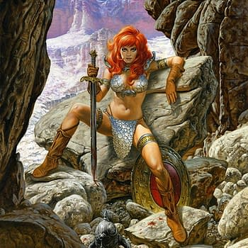 Joe Jusko Shares His Process Art for Exclusive New Red Sonja Trading Card