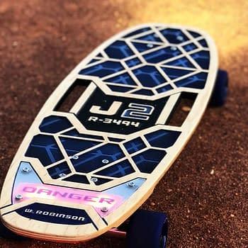 Bear Walker Crafts a Lost in Space-Inspired Skateboard