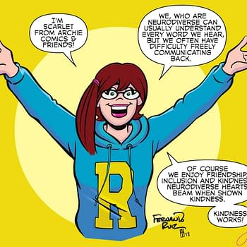 Archie Comics Nancy Silberkleit Celebrates World Autism Awareness Day with New Character Scarlet