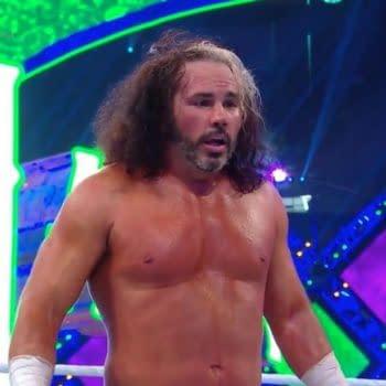 Matt Hardy wrestles at WrestleMania 34.