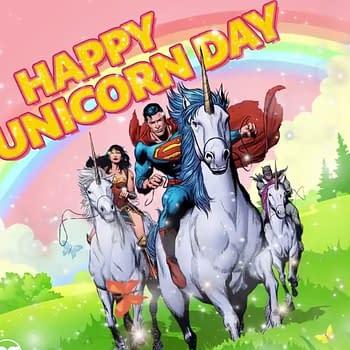 DC Comics Celebrates Unicorn Day with Superman Wonder Woman and Batman