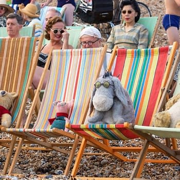 Pooh Piglet Eeyore and Tigger Sunbathe In New Christopher Robin Image
