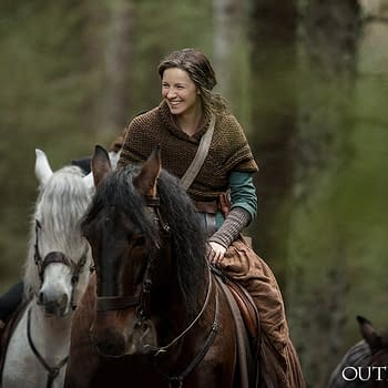 Outlander Shares New BTS Photo of Claire from Season 4