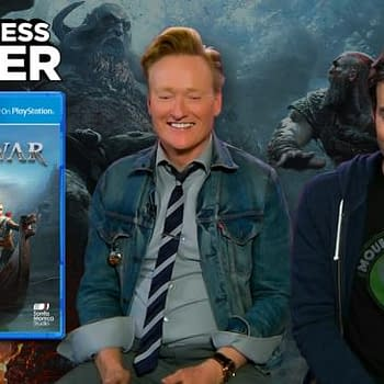 Watch Conan OBrien and Bill Hader Take on God Of War