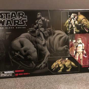 Star Wars Black Series Dewback and Sandtrooper