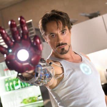 Robert Downey Jr as Tony Stark in Iron Man (2008). Image courtesy of Marvel Studios