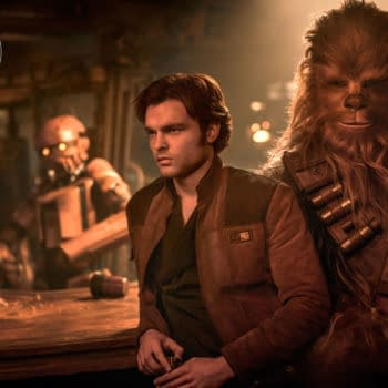 Alden Ehrenreich as Han Solo and Joonas Suotamo as Chewbacca in Solo: A Star Wars Story. Image courtesy of Lucasfilm