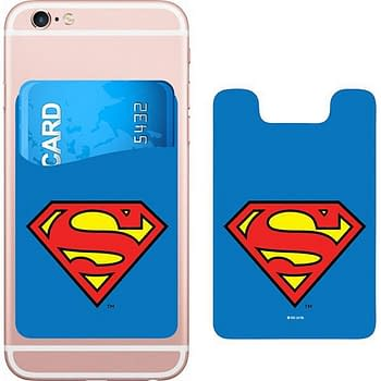 DC Comics Superman Logo Smartphone Card Holder Icon Heroes SDCC