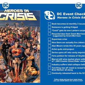Follow Along with Heroes in Crisis with Bleeding Cools DC Event Checklist