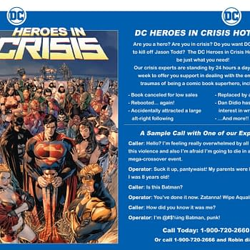 Bathroom Bulletins: DC to Launch Heroes in Crisis Hotline Alongside Super-Mega-Crossover Event