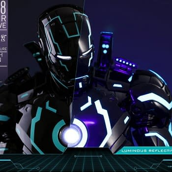 Iron Man Gets a Tron-Inspired Look from Hot Toys