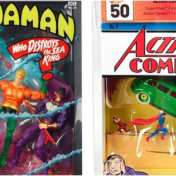 Aquaman and Action Comics #1 Get SDCC Exclusives From Mattel