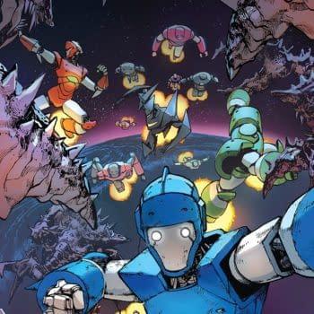 Mech Cadet Yu #9 cover by Takeshi Miyazawa and Raul Angulo