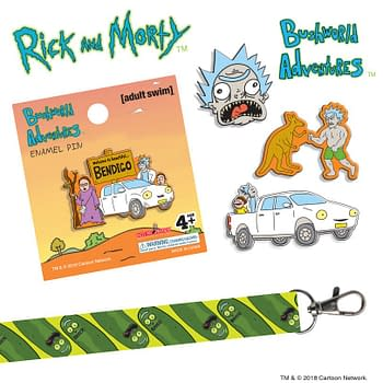 Rick and Morty Bob Ross Enamel Pins and Keychains at SDCC from Hot Properties