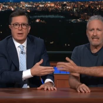 Michael Moore, Jon Stewart Stop by The Late Show with Stephen Colbert