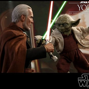 Star Wars Favorites Yoda and Count Dooku Get Dueling Hot Toys Figures