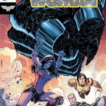 Wonder Woman #48 cover by Jesus Merino and Romulo Fajardo Jr.
