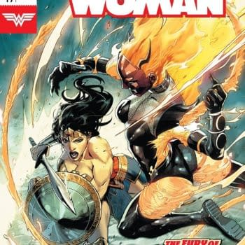 Wonder Woman #49 cover by Stephen Segovia and Romulo Fajardo Jr.