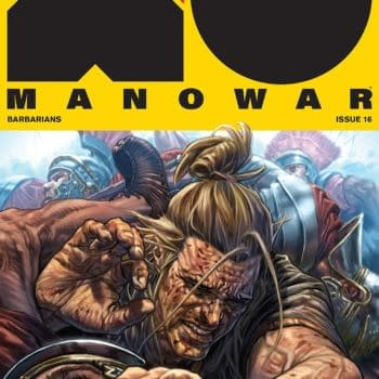 X-O Manowar #16 cover by Lewis Larosa and Diego Rodriguez