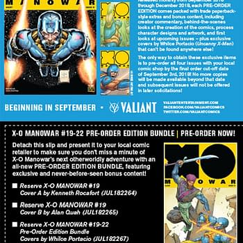 Juan José Ryp Joins X-O Manowar in September Plus a Preorder Bundle with Exclusive Whilce Portacio Covers