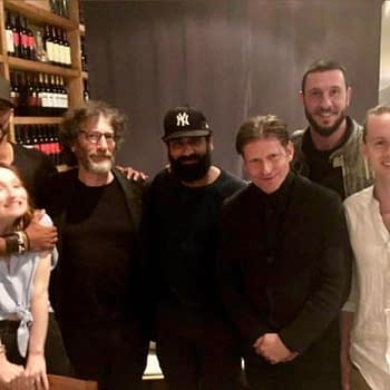 American Gods Season 2 Update: Cast Dinner Axe Throwing and a Stormare Selfie
