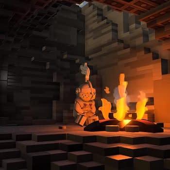 Someone Recreated the Dark Souls Firelink Shrine in Digital LEGO Bricks
