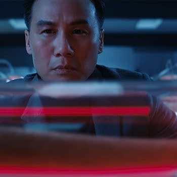 DB Wong as Dr. Henry Wu in Jurassic World: Fallen Kingdom. Image courtesy of Universal