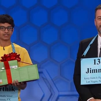 Jimmy Kimmel Challenges 2018 Scripps National Spelling Bee Champion – and It Doesnt Go Well