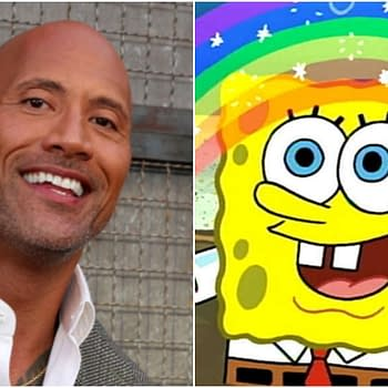 SpongeBob and Dwayne The Rock / Beef Piston Johnsons Magical Twitter Exchange