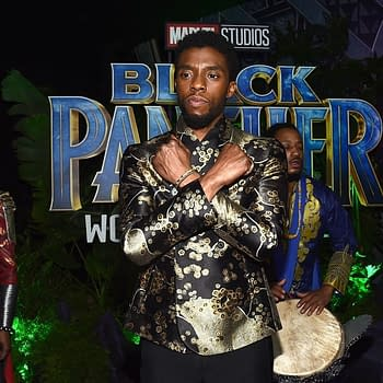Chadwick Boseman Does Wakanda Salute Because Mom Told Him To