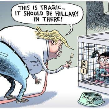 Rob Rogers cartoon trump immigration