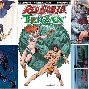 Exclusive Extended Previews of Red Sonja / Tarzan #2 Red Sonja #16 and More