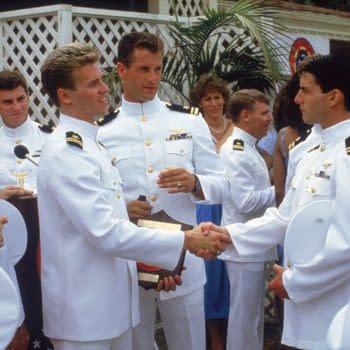 Val Kilmer and Tom Cruise in Top Gun (1986)