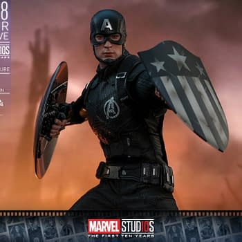 Captain America MCU 10th Anniversary Concept Art Figure from Hot Toys
