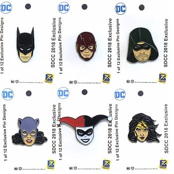 Check Out The Free DC Comics Pins in This Years SDCC Bags