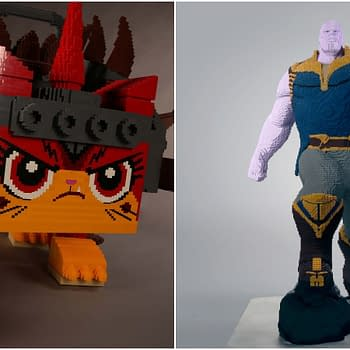 Check Out These Two Life-Size LEGO Statues at SDCC: Thanos and Unikitty