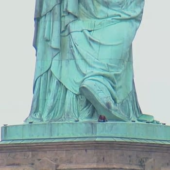Not Spider-Man: Someone Climbed Up the Statue of Liberty Today