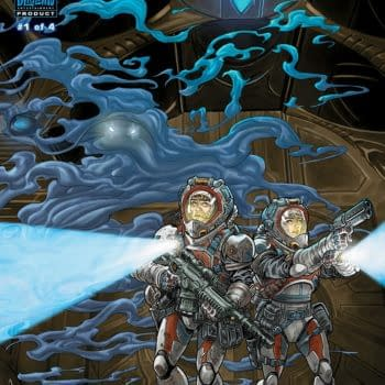 Starcraft: Scavengers #1 cover by Gabriel Guzman and Michael Atiyeh